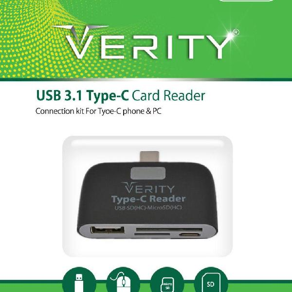 کارت ریدر  USB3 TYPE-C وریتی مدل VERITY TYPE-C -USB-3 CARD READER C103